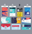 personal card id male or female passport or vector image vector image