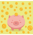 Piggy Bank and Coin Money vector image vector image