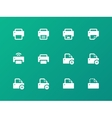 Printer icons on green background