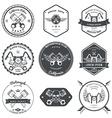 race bikers garage repair service emblems vector image