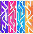 rainbow color geometric seamless pattern vector image vector image