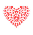 red heart for lovers vector image vector image