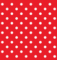 red polka dot seamless pattern vector image vector image