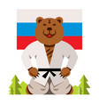 russian bear humor concept flat style vector image