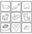 salmonella contaminated food vector image