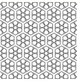 seamless linear black and white hexagonal pattern vector image