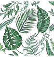 seamless pattern with palm leaves vector image vector image