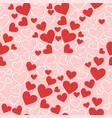 seamless texture with hearts in pink red vector image