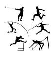 set group athletes men vector image vector image