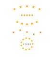 set yellow stars symbol vector image vector image