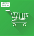 shopping cart icon business concept shopping vector image vector image