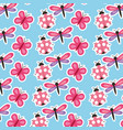 spring flowers natural season pattern vector image vector image