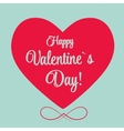 St Valentine days greeting card vector image vector image