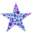 Star shape made of colored circles vector image