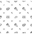 steak icons pattern seamless white background vector image vector image
