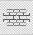 wall brick icon in flat style isolated on vector image vector image