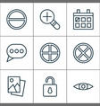web icons set with open lock remove messaging vector image vector image