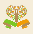 wedding logo with an orange tree in the form of vector image vector image
