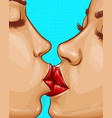 women kissing each other lesbian love vector image vector image