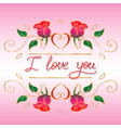words i love you hand drawn vector image vector image