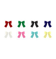 set of clip art bows vector image