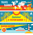 Summer travel - decorative banners vector image