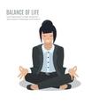 Businesswoman meditate vector image