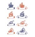 Cinema emblems vector image