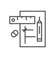 draft project linear icon sign symbol on vector image