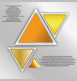 abstract triangle banner vector image vector image