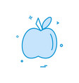 apple food furit icon design vector image