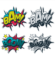 Bam boom comic style graphic vector | Price: 1 Credit (USD $1)