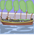 barge vector image vector image