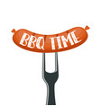 bbq time poster vector image vector image