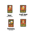 beer pub posters stickers emblems vector image