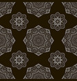 black and white seamless pattern ethnic ornament vector image vector image