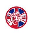 british sandblaster abrasive blasting union jack vector image vector image