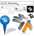 Business 3D tick logo design vector image vector image
