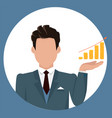 businessman holding chart made money vector image vector image
