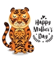 Card for Mothers Day with tigers vector image