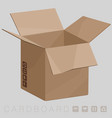 cardboard brown box vector image
