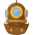 cartoon diving helmet vector image