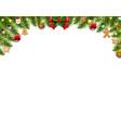 christmas border isolated white background vector image