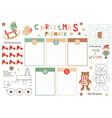 christmas kids planner vector image vector image
