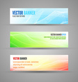 colored banners vector image vector image