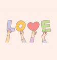 concept charity and love vector image