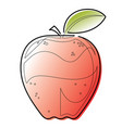 continuous line apple vector image