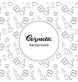 cosmetic background cosmetic pattern flat lineart vector image vector image