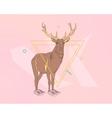 Creative deer print vector image vector image