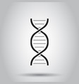 dna icon on isolated background business concept vector image vector image